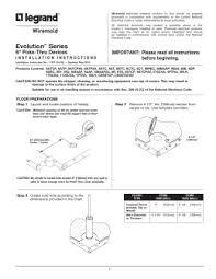 rc4 series poke thru devices installation instructions installation instructions