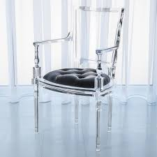 THE WELL APPOINTED HOUSE - Luxuries for the Home - THE WELL APPOINTED HOME Acrylic  Chair with Pewter Grey Upholstered Seat-Available as a Side Chair or ...