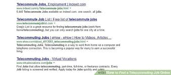 Telecommute Job How To Find A Telecommuting Job Online 6 Steps With Pictures