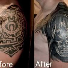 Tetování Lebky 3d Rameno Tetování Tattoo