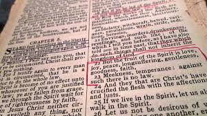 galatians chapter 5 the fruits of the spirit holy king james reading together
