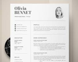 How To Create A Modern Resume In Word Resume Template Professional Resume Word Cv Template Modern Resume One Two Page Resume Template Creative Resume Resume Design