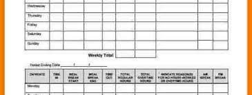 timesheet hours hours worked calculator resume template