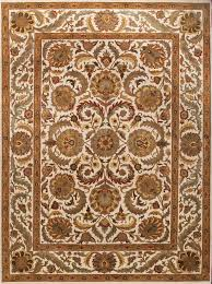 rugsville traditional white gold fl vines hand knotted wool rug 270 x 370 cm