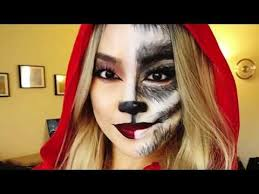 2017 red riding hood and big bad wolf makeup tutorial you costumes wolf makeup 2017 and big bad wolf