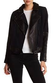 blanknyc denimcanvas vegan leather moto jacket