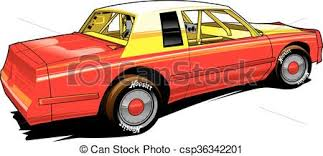 Vector Clipart Of Hobby Racer Stocl Car Vectpr Stock Car