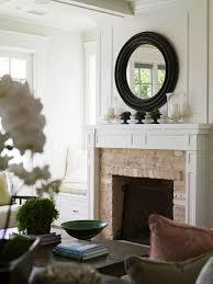 faux finish brick fireplace