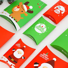<b>20pcs Christmas</b> Elk Santa Claus Candy Box Gift Bag | Shopee ...