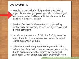 How to Write a CV for a Cabin Crew Position (with Pictures) - achievements