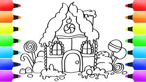 how to draw gingerbread house easy for kids drawing ideas for children