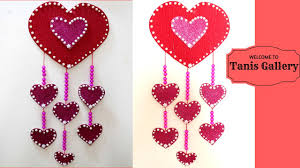 hanging hearts decorations large heart wall hanging heart shaped decorations to make