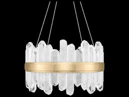 fine art lamps lior gold with rock crystal glass 24 light 21 wide