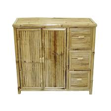 wood office cabinet. Bamboo 54 Natural Office Cabinet Wood