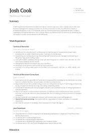 Recruiter Resume Samples And Templates Visualcv