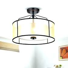 drum shade ceiling fan light kit over fans low profile linen for fa