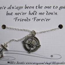 Compass Quotes Magnificent Best Friend Compass And Anchor Charm From JillsJewels48You On Etsy