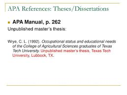 013 How Do You Cite Dissertation In Apa Footnote Example