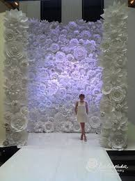 Paper Flower Backdrop Rental Paper Flower Wall 11 X 16 For Rental White Or Ivory