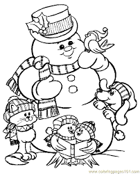 Small Picture Happy Snowman Coloring Pages Christmas Coloring pages for
