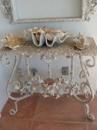 decorate furniture. how to decorate with shells furniture
