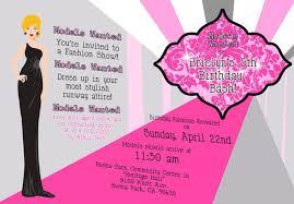 birthday fashion show invitation design fashion show birthday inside fashion show invitation wording 11045