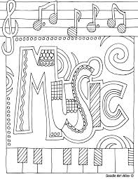 Coloring Page Music Theme L