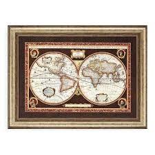framed wall maps decorative world map framed wall art world maps framed wall maps for