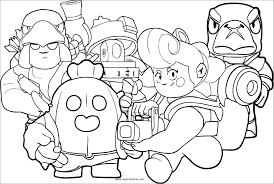 Level them up and collect unique skins. Brawl Stars Characters Coloring Page Coloringbay