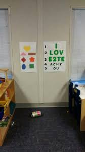 Eye Chart Doctors Office Community Preschool Headstart