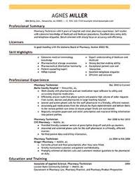 Pharmacy Technician Resume Sample (No Experience) | Pharmacy ...