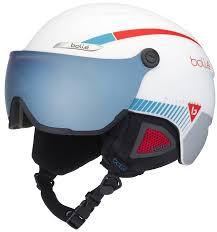 Bolle B Yond Visor Amber Blue Ski Snowboard Helmet L White