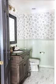 consider large tiles for a small bathroom