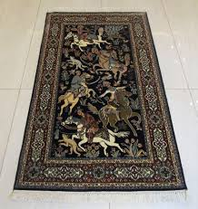 3x5 area rug persian oriental hand knotted pure silk traditional kashmir carpet