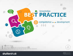 Best Practice Word Cloud On Colorful Stock Vector Royalty Free