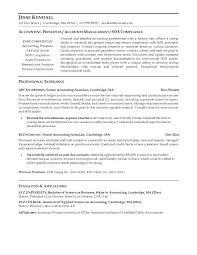 Senior Accountant Sample Resume Senior Accounting Manager Resume