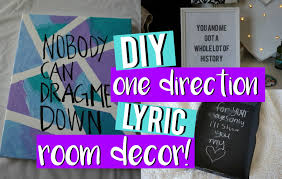 One Direction Bedroom Decor Diy One Direction Lyric Room Decor Midoriyukidawn Youtube