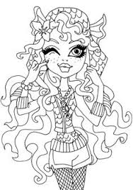 Small Picture Frankie Stein Monster Coloring Page Monster High Coloring Page