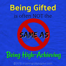when most of us think of gifted children we automatically think of high achieving students the smart ones i think this misperception began in our s