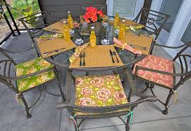 stylish patio chair pads with patio party sitting pretty chair cushions sew4home