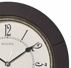frame detail of the bulova c4256 espresso quiet sweep wall clock