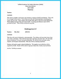 Resume For Daycare Teacher Assistant Image Examples Resume
