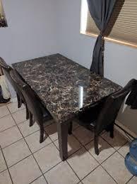 Table De Cuisine Imitation Marbre Meuble Et Déco