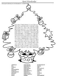 Kleurplaat Kerstpuzzel Woordzoeker Kleurplatennl