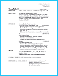 Uh Resume Sample awesome Learning to Write from a Concise Bank Teller Resume Sample 1