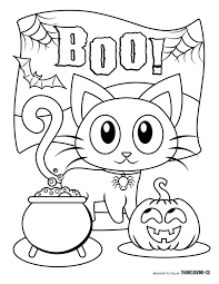Cute Halloween Coloring Pages Lezincnyccom