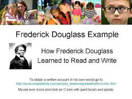 frederick douglass learns to and write mp