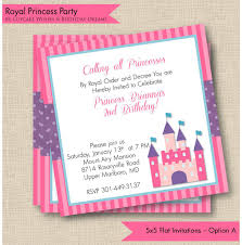 princess birthday party invitations to print wedding birthday party invitations pretty princess parties send bottle
