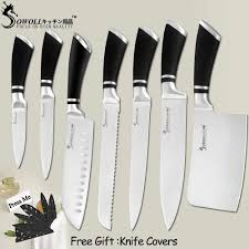SOWOLL Stainless Steel Sashimi <b>Kitchen Knife Laser Damascus</b> ...