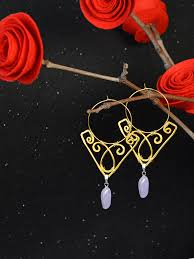 this is a picture showing the final look of the diy wire wrapped earrings